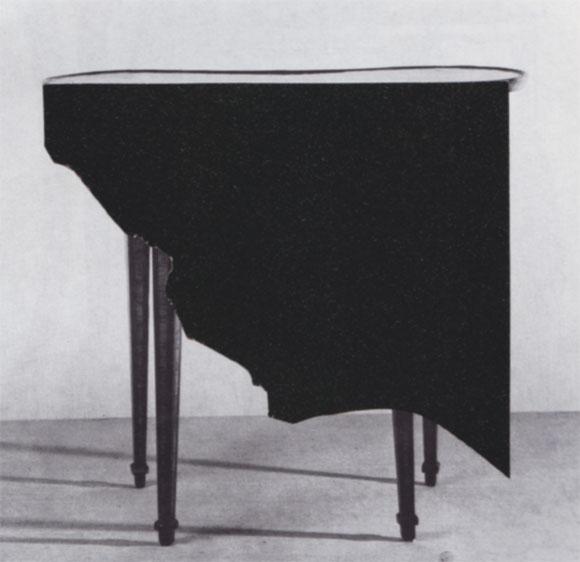 Collage Nierenförmiger Tisch