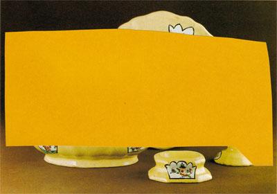 Collage Teil eines gelbglasierten Speiseservices