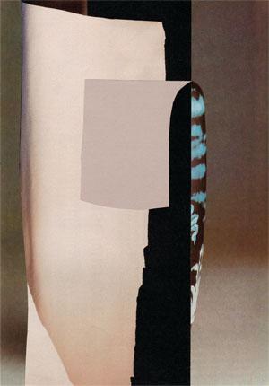 Collage Vase aus violetten Glas