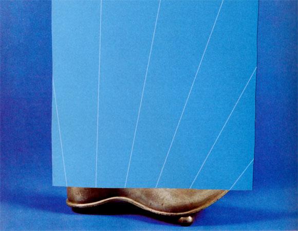 Collage Zunftgefäß in Form eines Schuhs