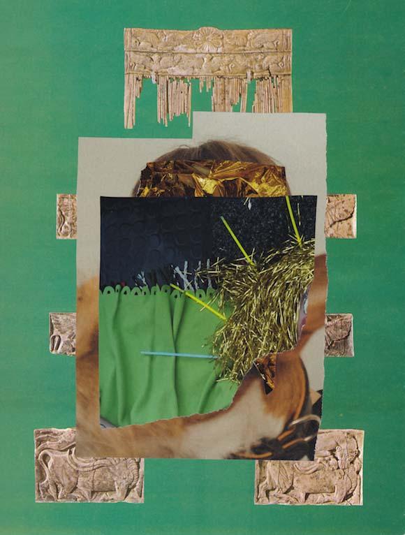 Collage PORTRAIT MIT HUND UND FLEECEDECKE