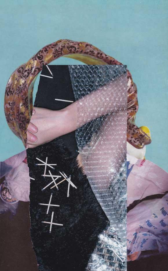 Collage PORTRAIT MIT STREICHHOELZERN